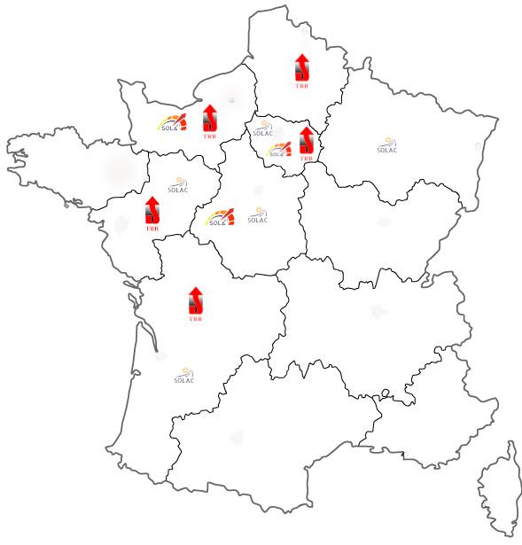 carte implantation groupe SOLA